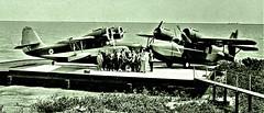 Grumman G-73 Mallard flying boats belonging to Texaco in Saudia Arabia or Bahrain Oct 26 - Dec 10, 1948 [Robt. Yarnall Richie] (over 19 MILLION views Thanks) Tags: arabiaamericancompany oilindustry middleeast arabia flyingboats grumman mallard g73 1948 texaco nc3500 aircraft airplane