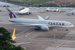 QATAR AIRWAYS CARGO B777-F A7-BFF 00 (A.S. Kevin N.V.M.M. Chung) Tags: aviation aircraft aeroplane airport airlines apron plane spotting mfm macauinternationalairport qatar cargo boeing b777 b777f freight
