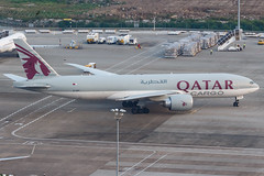QATAR AIRWAYS CARGO B777-F A7-BFF 00-2 (A.S. Kevin N.V.M.M. Chung) Tags: aviation aircraft aeroplane airport airlines apron plane spotting mfm macauinternationalairport qatar cargo boeing b777 b777f freight