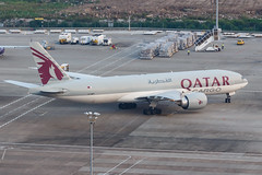 QATAR AIRWAYS CARGO B777-F A7-BFF 00-4 (A.S. Kevin N.V.M.M. Chung) Tags: aviation aircraft aeroplane airport airlines apron plane spotting mfm macauinternationalairport qatar cargo boeing b777 b777f freight