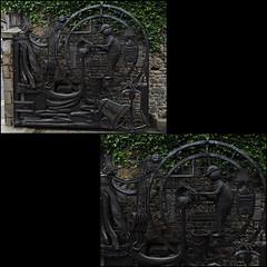 6 - Villedieu-les-Poêles -Fonderie Cornille-Havard, Portail (melina1965) Tags: panasonic lumix dmctz57 août august 2019 normandie bassenormandie manche mosaïque mosaïques mosaic mosaics collages collage villedieulespoêles sculpture sculptures