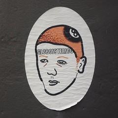 Globoisterico (derpunk) Tags: globoisterico globo isterico sticker face man boy art streetart amsterdam