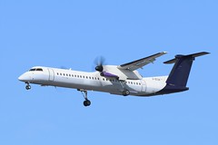 FlyBe Bombardier Dash 8 Q400 G-ECOK (Adam Fox - Plane and Rail photography) Tags: aircraft airplane aeroplane airliner airlines plane planes passenger manchester airport egcc man spotters turboprop propeller turbo prop regional