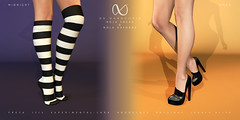 NX-Nardcotix for October's Midnight Madness (Nardcotix) Tags: nxnardcotix nardyarousselot belleza maitreya legacy alice signature mesh knit overknee slouchy relaxed socks sneakers shoes casual stilettos oxfords autumn patentleather footwear fabric cozy cute chic platform school student girly heels mmm midnightmadness