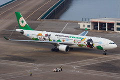 "EVA AIR A330-302 B-16331 ""Bad Badtz-Maru"" 00-7 (A.S. Kevin N.V.M.M. Chung) Tags: aviation aircraft aeroplane airport airlines apron plane spotting mfm macauinternationalairport airbus evaair a330 a330300 speciallivery hellokitty"