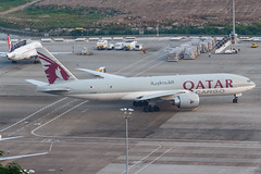 QATAR AIRWAYS CARGO B777-F A7-BFF 00-3 (A.S. Kevin N.V.M.M. Chung) Tags: aviation aircraft aeroplane airport airlines apron plane spotting mfm macauinternationalairport qatar cargo boeing b777 b777f freight