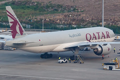 QATAR AIRWAYS CARGO B777-F A7-BFF 00-8 (A.S. Kevin N.V.M.M. Chung) Tags: aviation aircraft aeroplane airport airlines apron plane spotting mfm macauinternationalairport qatar cargo boeing b777 b777f freight