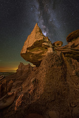 The Hanging Hoodoo (Wayne Pinkston) Tags: hoodoo hanginghoodoo newmexico newmexicobadlands night sky nightsky nightphotography nightlandscape waynepinkston lightcrafter lightcraftercom waynepinkstonphotocom starryskystars star milkyway galaxy astrophotography landscapeastrophotography widefieldastrophotography landscape badlands