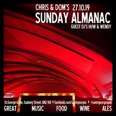 diary #2464: Sunday Almanac, October 27th 2019