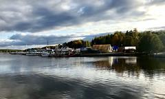 Boats in the waters of Runn (halleluja2014) Tags: boats harbor hamn båtar autumn lake sweden dalarna falun sjö runn water waves october waterscape kvarnberget