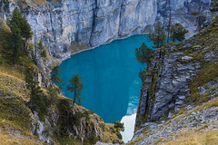 Oeschinensee (nicolasheinzelmann) Tags: oeschinensee see lake blue spiegelung reflection nature berneroberland schweiz bern color colour farbe farbig canoneos5dmarkiv 5dmkiv 5dmiv canonef50mmf12lusm day dslr switzerland lights light urban oktober october nicolasheinzelmann 13oktober2019