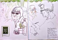 Chelsea Physic Garden and NPG (Happy Sketcher) Tags: illustration drawing sketch urbansketch sketchbook café people