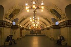 Kiyevskaya (Debatra) Tags: moscow russia mockba kiyevskaya moscowmetro metro europe ussr sovietunion lights chandelier socialistrealism koltsevayaline station rapidtransit d3300 nikon nikkor