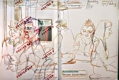 Royal Academy poster bar (Happy Sketcher) Tags: illustration drawing sketch sketchbook urbansketch colouredpencils