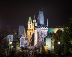 Karlův Most (Charles Bridge) (Fret Spider) Tags: prague praha czechrepublic vacation fujifilm gfx50s europe night afterdark tower charlesbridge karluvmost beauty zeiss ze sonnarapo1352ze aposonnart2135 sonnar1352ze manuallens architecture building structure nightlife