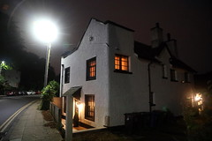The nights are getting longer! (Hilltopender) Tags: lateevening night willage lights cottage
