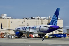 United Airlines 1994 Boeing 757-200 N14106 c/n 27296 art plane. San Francisco Airport 2019. (17crossfeed) Tags: unitedairlines unitedexpress boeing 757 757200 27296 airport aviation airplane aircraft flying flight flightattendant sfo sfoov sanfranciscoairport pilot planes planespotting claytoneddy california 17crossfeed 777 787 747 737 plane art tower takeoff taxi airbus