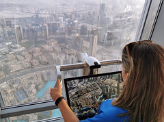 Views from Burj Khalifa (vic_206) Tags: girl dubai burjkhalifa