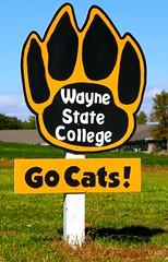 WSC Wildcats fan sign (ali eminov) Tags: wayne nebraska colleges waynestatecollege sportteams wildcats signs