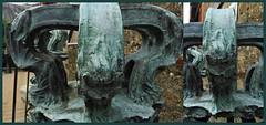 1 - Villedieu-les-Poêles -Fonderie Cornille-Havard - Couronne de cloche, Détails (melina1965) Tags: panasonic lumix dmctz57 août august 2019 normandie bassenormandie manche mosaïque mosaïques mosaic mosaics collages collage villedieulespoêles cloche cloches bell bells sculpture sculptures