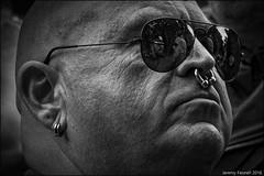 Pride Portrait 2016 (re-edited shot) (zolaczakl) Tags: bristol pride blackandwhitebristol blackandwhite monochrome mono bristolinmonochrome reflections sunglasses piercings lgbt 2016 nikond7100 nikonafsnikkor24120mmf4gedvrlens photographybyjeremyfennell jeremyfennellphotography july england event uk
