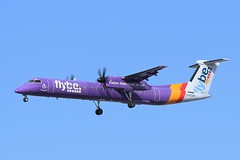 FlyBe Bombardier Dash 8 Q400 G-ECOH (Adam Fox - Plane and Rail photography) Tags: aircraft airplane aeroplane airliner airlines plane planes passenger manchester airport egcc man spotters turboprop propeller turbo prop regional