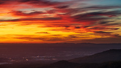Colors of Sunset (Markus Semmler) Tags: murgtal cloudscape sunset woods michelbach mountains hills orange clouds trees valley forest vosges sulzbach red rhineplate mountain blackforest sundown gaggenau