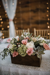 White and pink flowers are on the wedding table (shixart1985) Tags: adorable adorned arachnid arrangement beautiful ceremony closeup color day design element florist flowers glamour good green indoors nature nobody party table wedding