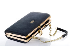 Women's clutch handbag on a white background (catachieng) Tags: clutch handbag bag purse ladysbag accessory modern fashion thefashion style lifestyle glamor luxury lady suede metal leather gilt chain castle color kostroma russia643iso31662ru