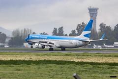 Boeing 737-8BK | LV-FRK | Aerolíneas Argentinas (Felipe Radrigán) Tags: avion airplane plane boeing lvfrk scl scel santiago aeropuerto ar aerolíneasargentinas chile spotter airlines 737 aerolinea airline avgeek airport aviation 7378bk