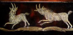 Gold wire (PentlandPirate of the North) Tags: macromondays wire gold love goats snuffbox intricate craftsman inlaid piratetreasure hmm craftmanship antique
