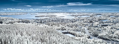 Kuopio from Above (Petri Damstén) Tags: 65x24 finland kuopio puijo puijontorni puijontie suomi d3300 fi finlandininfrared infrared ir landscape nikkor nikon panorama summerproject kuopionseutukunta