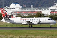 ES-NSD_09 (GH@BHD) Tags: esnsd saab saab340 saab340b nyxair loganair belfastcityairport bhd egac lc lm log aircraft aviation turboprop airliner tartan