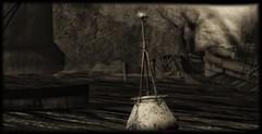 Dead End (Carla Putnam) Tags: landscape dark buoy marker water everwinter