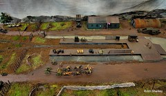 Photo of part of train diorama at Johnstone model rail show