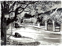Ink013 (sylvain.cnudde) Tags: ink inktober inksketch sketch street sketchbook suburb streetsketch usk urbansketch urbansketcher urbansketching urbansketchers nuit nightsketch night encre