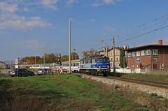 EP07-1035 mit dem IC 8310 in Rzepin (PL) (M. Eisenmann) Tags: zug eisenbahn pkp intercity elok ep07