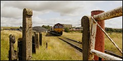In the Gap. (peterdouglas1) Tags: cwmbargoed 66172 opencastcolliery gates fences