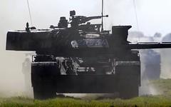 Romanian MBT TR-85M1 (modernized T-55) @ LKMT (stecker.rene) Tags: romanian romania mbt mainbattletank headon tr85 tr85m1 bizon t55 derivat bizonul 100mm cannon modernized improved kampfpanzer tracked vehicle military combat romarm a308 army nato natodays natodays2019 2019 convoy lkmt mošnov osr ostrava morava czechrepublic canon eos7d markii canonef40056l ef400mmf56l ef400mm 14x extender ground force tank panzer 12a334 turret