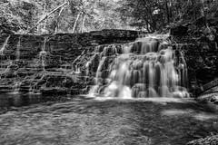 Waterfall / Chute D'Eau (anzere03) Tags: bw monochrome hmm x100f waterfall tennessee fuji fujifilm longexposure