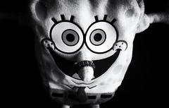 SpongeBob NoseRing (LeftCoastKenny) Tags: utata ironphotographer spongebobsquarepants doll ring noir bw blackwhite utata:description=hide utata:project=ip290