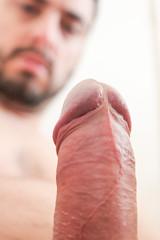 IMG_2200 (kinkhumiliation) Tags: erection cock penis stiff dickhead smell cheese precum cockhead nude naked smegma