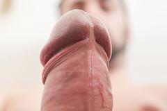 IMG_2171 (kinkhumiliation) Tags: erection cock penis stiff dickhead smell cheese precum male solo cockhead juice uncut fluid erect