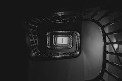 there must be something bright up there... (theoswald) Tags: stairs shadows blackandwhite contrast architecture light fujifilm xt2