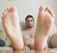 27 (kinkhumiliation) Tags: barefeet soles toes malefeet nude naked cheesy feet solo male smell