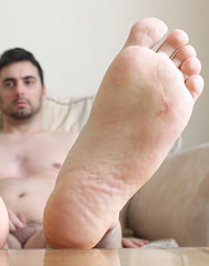 26 (kinkhumiliation) Tags: barefeet soles toes malefeet nude naked cheesy feet male solo sole smell