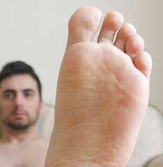 20 (kinkhumiliation) Tags: barefeet soles toes malefeet nude naked cheesy feet male foot sole solo