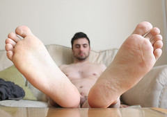 16 (kinkhumiliation) Tags: barefeet soles toes malefeet nude naked cheesy feet solo male cock barefoot