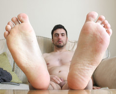 2 (kinkhumiliation) Tags: barefeet soles toes malefeet nude naked cheesy feet male solo sole
