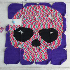 IMG_2058 (crochetbug13) Tags: crochet crocheted crocheting crochetyarnbomb dayofthedeadcrochet dayofthedeadmural crochetmural